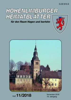Heimatblätter Heft 11_2018 Titelseite